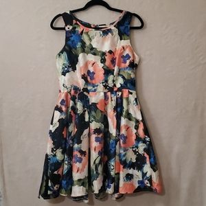 Danny & Nicole Fit & Flare Floral Dress Size 10